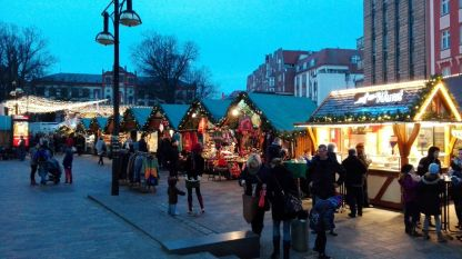 Julemarkedet på Kröpeliner Strasse, Rostocks lange shoppinggade
