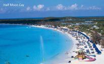 Half Moon Cay er Carnival Cruise Lines private - Billedet er lån fra Carnival Cruise line