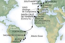 Krydstogt fra Hamburg langs med Afrika