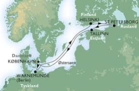 Krydstogt fra København i Østersøen