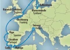 Krydstogt fra København til Savona