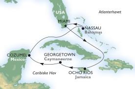 Krydstogt i Caribien med besøg i Mexico