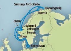 Krydstogt til Nordkap direkte fra København