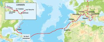 Transatlantisk krydstogt fra Miami