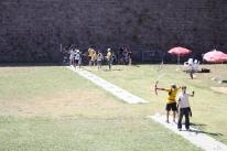Der var forskellige aktiviter ved Castell de Montjüic - Her en bueskydningskonkurrence