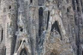 Første når man kommer helt tæt på kan man rigtig se hvor detaljeret Gaudis Sagrada Familia er